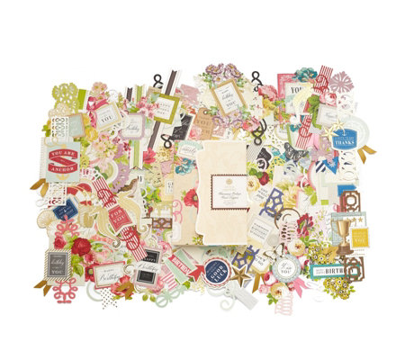 Anna Griffin Pack of 100 Charming Collage Card Toppers