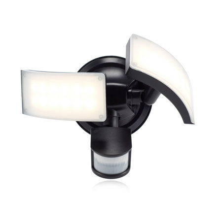 Luxform 500 Lumens Curved Twin Head Battery Ed Security Light