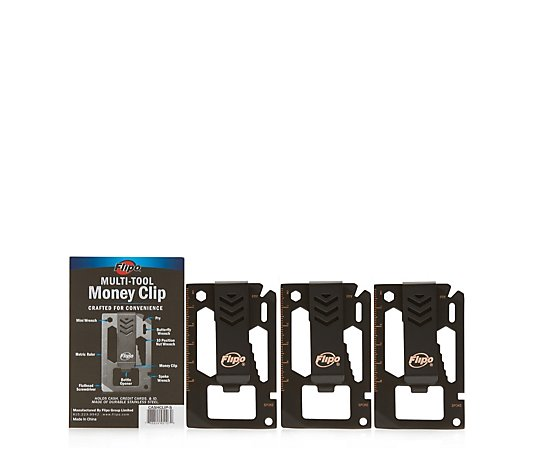 Flipo Money Clip Set of 3 Multi-tool Sets