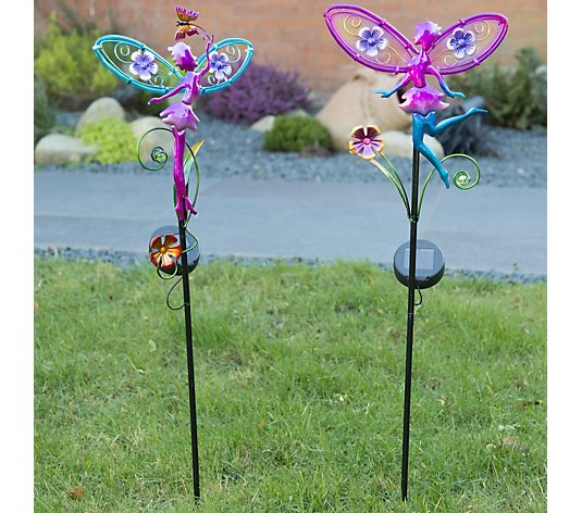 Home2Garden Set of 2 Fairy Solar Stakes
