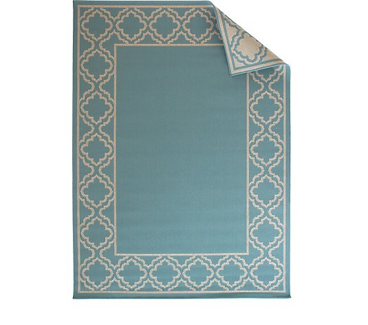Home Reflections Tuscan Border Indoor & Outdoor Reversible Rug