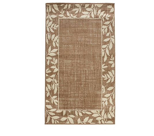 Home Reflections Botanical Border Indoor & Outdoor Rug