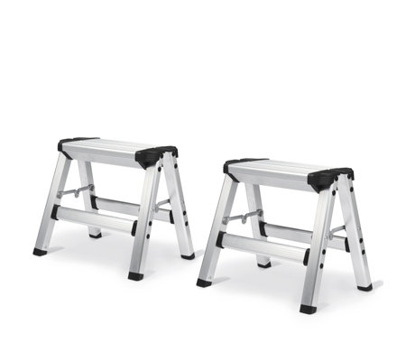 Miraculous Buildcraft Set Of 2 Two Step Folding Step Stool Qvc Uk Beatyapartments Chair Design Images Beatyapartmentscom