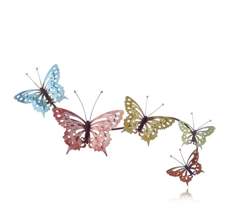 Plow U0026 Hearth Metal Watercolour Butterfly Wall Art