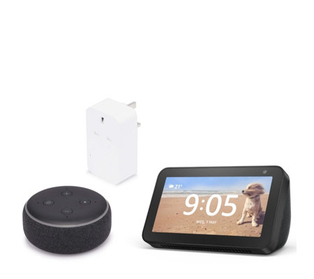 Amazon Echo Show 5 with Echo Dot 3 & Smart Plug