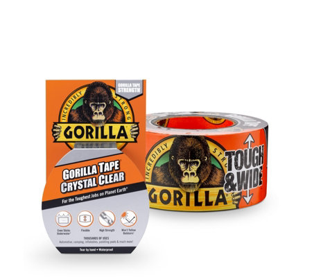 Gorilla Tough & Wide 27m Clear Gorilla Repair Tape