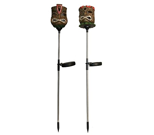 Luxform Set of 2 Tiki Mask Torches