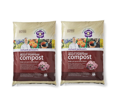Richard Jackson's 2 x 60L Premium Advanced Formula Multi Purpose Compost