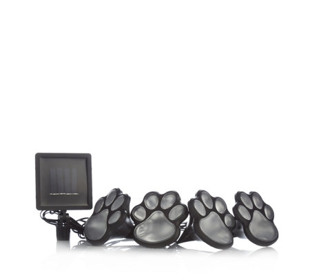 Set of 4 Paw Print Lights