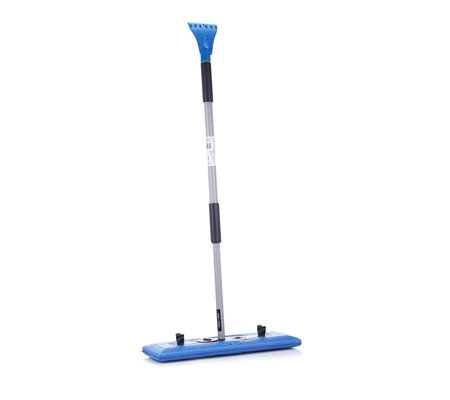 Snow Joe 4-In-1 Telescoping Snow Broom & Ice Scraper with LED Light
