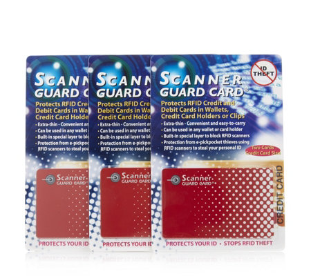 Scanner Guard 3 Sets of 2 RFID Proctecting Cards For Wallets