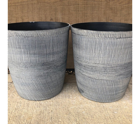 Plants2Gardens Set of 2 Sand Thatched Indoor/Outdoor Planters