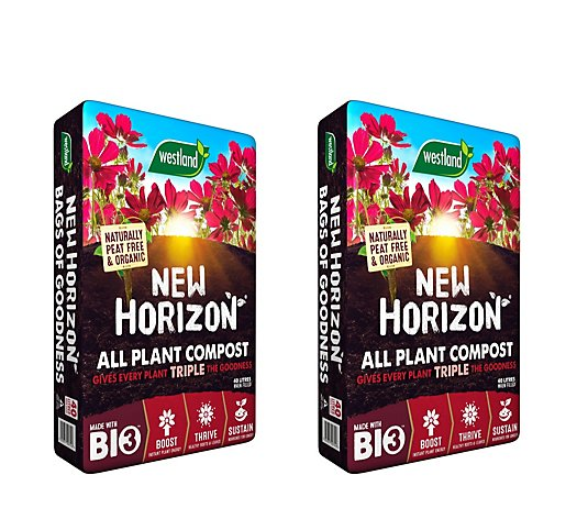 Westland New Horizon Set of 2 40L Peat Free Compost