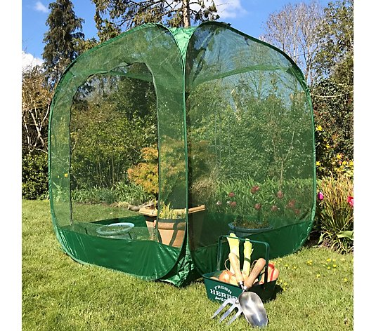 GardenSkill Medium Pop Up Net Cage with Ground Pegs
