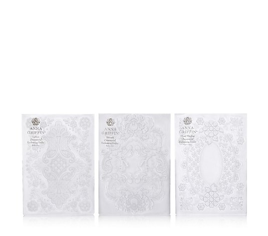 Anna Griffin Set of 3 3D Ornamental Embossing Folders