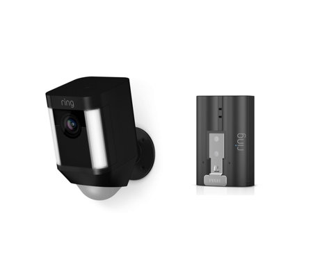 Ring Spotlight Cam Smart Security Camera w/ Extra Battery & Cloud Subscription