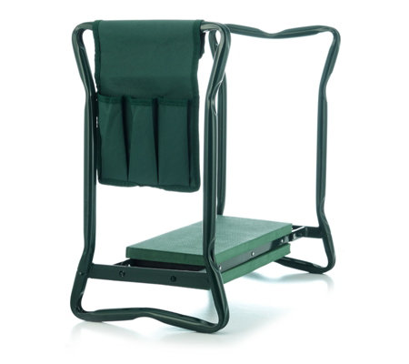 Langdonu0027s Foldable Garden Kneeler Seat With Tool Pouch