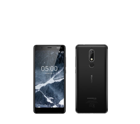 "Nokia 5.1 5.5"" Android 8 16GB Smartphone with Memory Card & Clear Case"