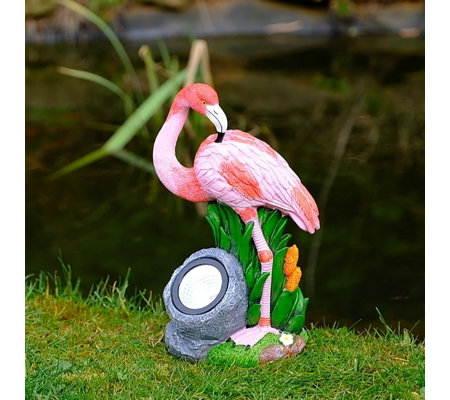 Jennings Flamingo Ornament with Solar Light