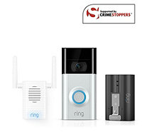 Ring Video Doorbell 2 w/Chime Pro Extra Battery& 6 Month Cloud Subscription - 517684