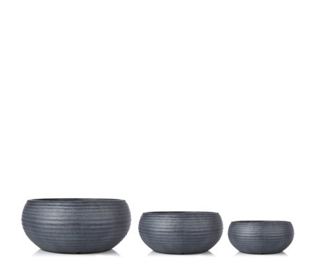 Garden Reflections Set of 3 Round Planters