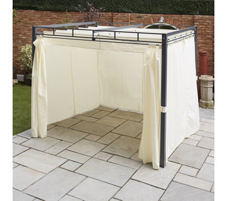 St Tropez Metal Frame Gazebo with Side Panels