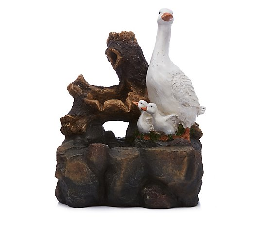 Ornamental Duck Family Fountain