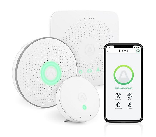 Airthings House Air Indoor Management Kit Includes Wave, Wave Mini & Hub
