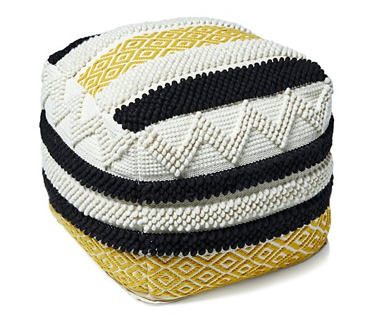 Edited by Erica Davies Woven Striped Pouffe