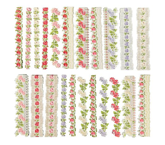 Anna Griffin Set of 96 Lace Border Stickers