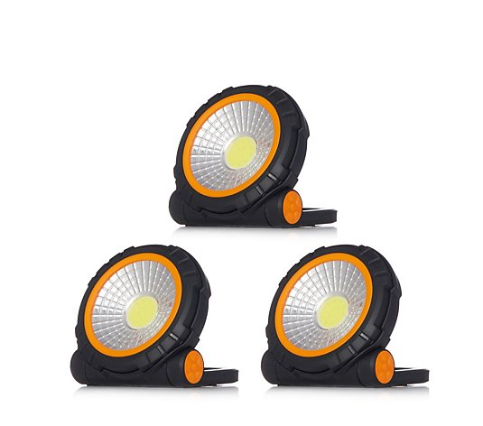 Uni-Com Mini Flood Light 3-Pack with Batteries