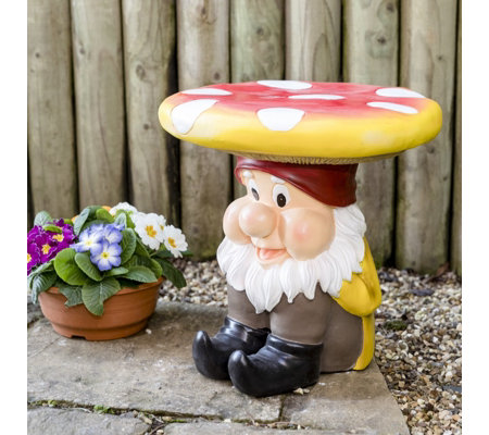 Astonishing Home2Garden Garden Gnome Stool Qvc Uk Gmtry Best Dining Table And Chair Ideas Images Gmtryco