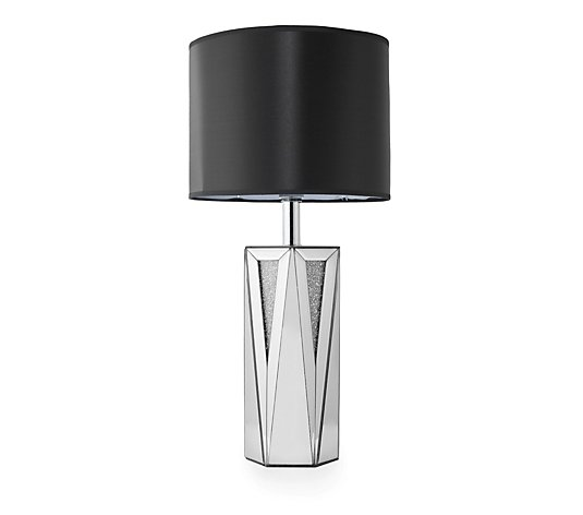 JM by Julien Macdonald Encapsulated Crystal Lamp with Black Drum Shade