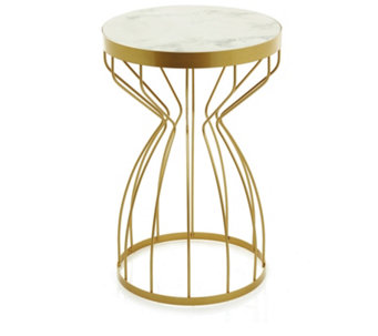 JM by Julien Macdonald Miami Marble Effect Side Table - 509099