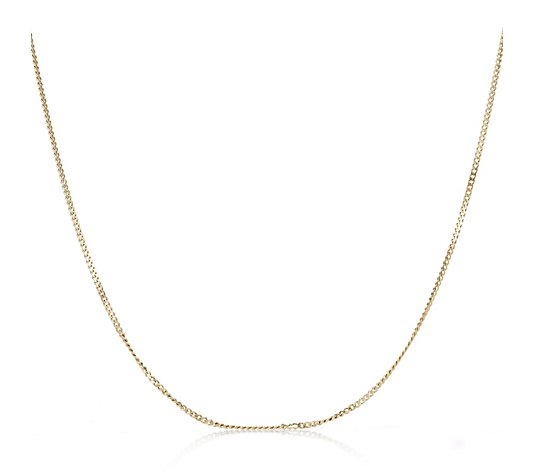 9ct Yellow Gold Diamond Cut 45cm Curb Chain