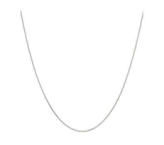 9ct White Gold Diamond Cut 45cm Curb Chain