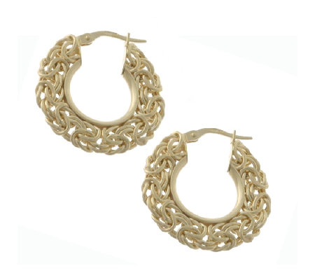 9ct Gold Byzantine Hoop Earrings
