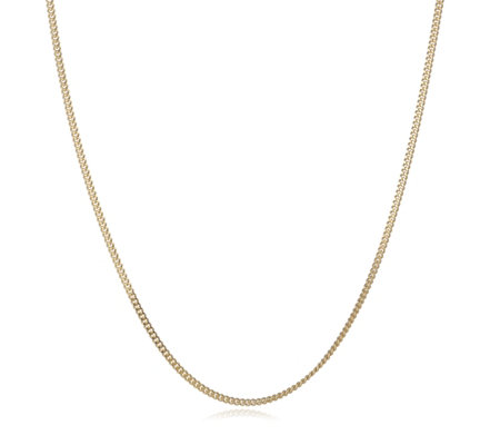 Gold Gallery 9ct Gold 50 Gauge Diamond Cut 45cm Curb Chain