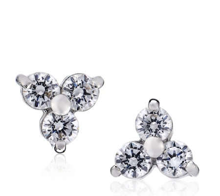548a9f326 Diamonique 0.42ct tw Trefoil Stud Earrings Sterling Silver - Page 1 ...