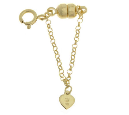 9ct Gold Magnetic Bracelet Clasp With Safety Chain