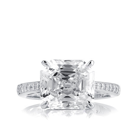 Michelle Mone for Diamonique 5.1ct tw Asscher Cut Ring Sterling Silver