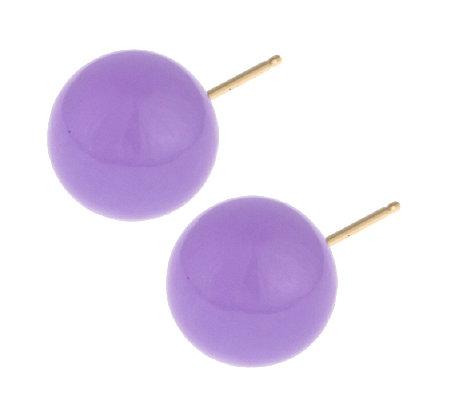 Jade 10mm Stud Earrings 14ct Gold