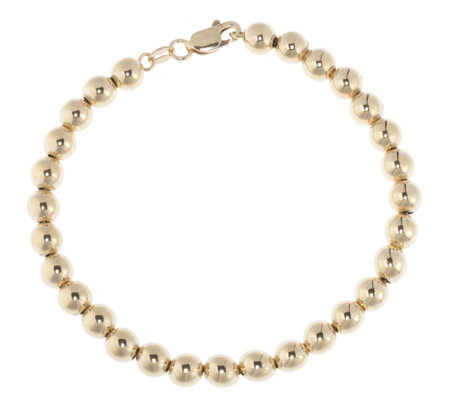 9ct Yellow Gold Circular Bead Bracelet