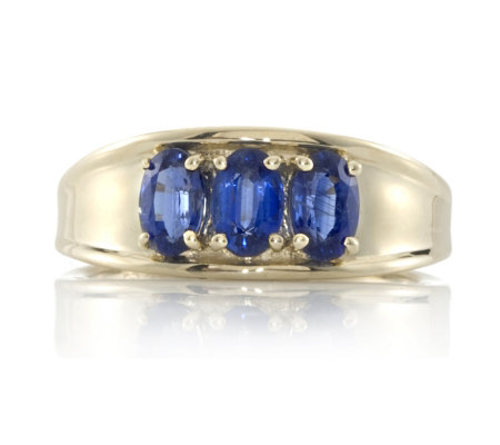 1 5ct Nepalese Kyanite 3 Stone Ring 9ct Gold QVC UK