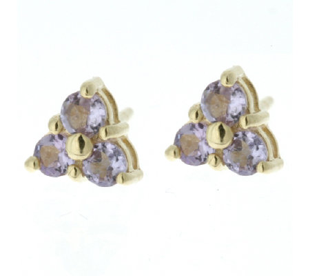 0 36ct Tanzanite Stud Earrings 9ct Gold