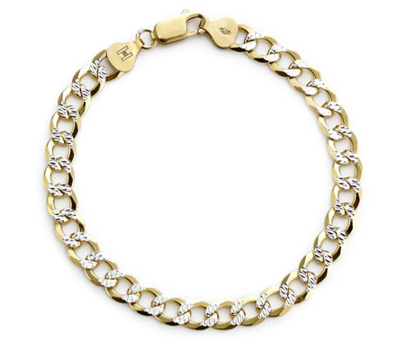 K by Kelly Hoppen Capri Diamond Cut Bracelet 18ct Gold Plated Sterling Silver