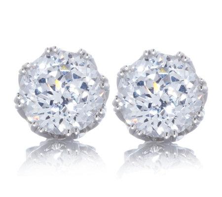 Tacori Epiphany Diamonique Ss 4 3ct Tw Bloom Cut Stud Earrings
