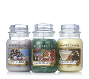 Yankee Candle Set of 3 Pure Essence Large Jars - 706700