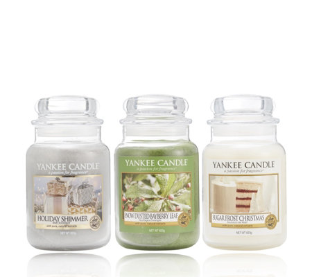 Yankee Candle Set of 3 Winter Scents Large Jars