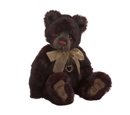 "Charlie Bears Collectable Rum Baba 19"" Plush Bear"